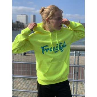 Hoodie Freestyle Yellow/blue